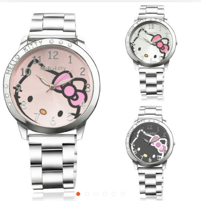 fa6aa18ab Hello Kitty women and teen girl watch(white instock), Luxury, Watches on  Carousell