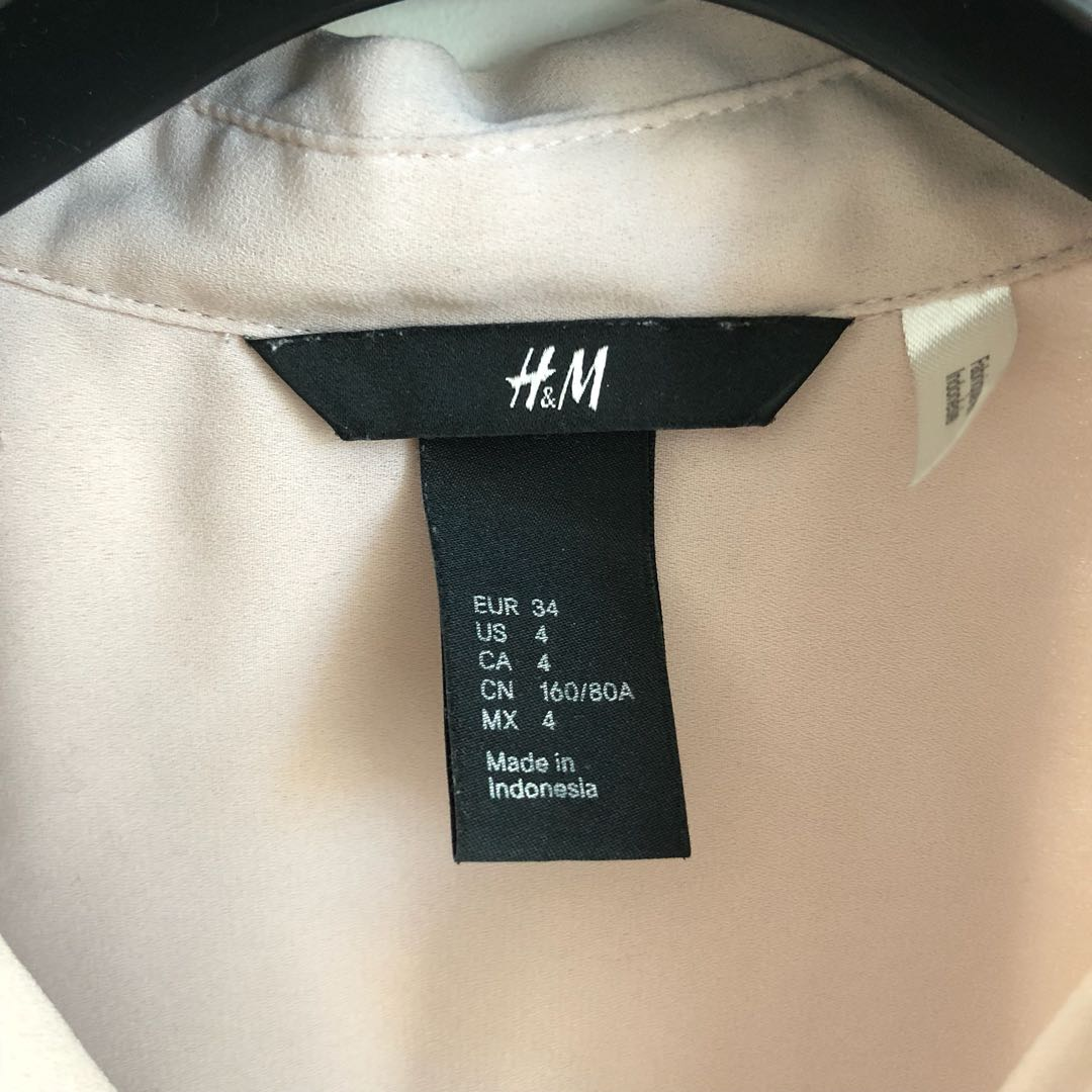 H&M Tan Blouse