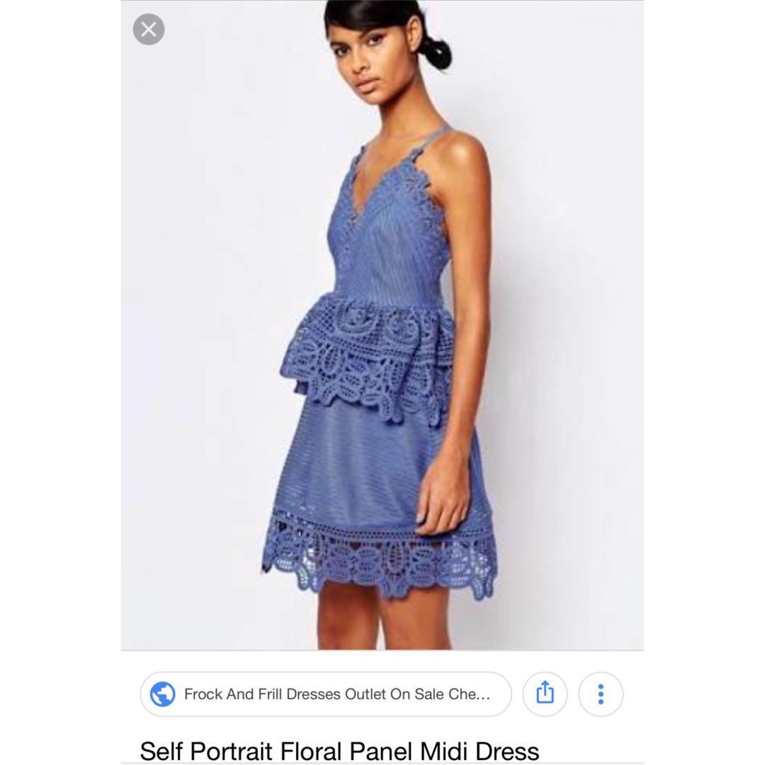 3d5431e2b86d HQ Self Portrait Ins Floral Panel Midi Dress on Carousell