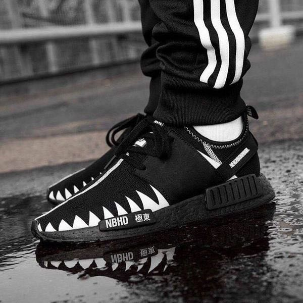 outlet store 9fa6a 9d30d INSTOCK Adidas NMD R1 PK X Neighborhood Black, Men's Fashion ...