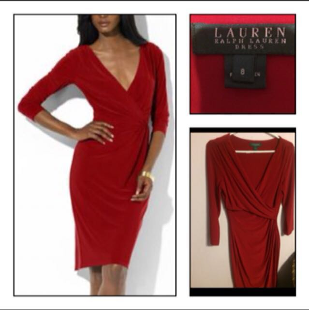Lady in red Ralph Lauren wrap dress size 8 or medium