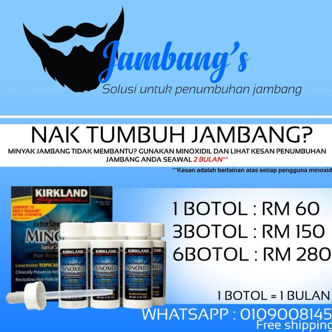 Minoxidil Ubat Jambang Health Beauty Mens Grooming On Carousell Rogaine Foam 5 1 Botol