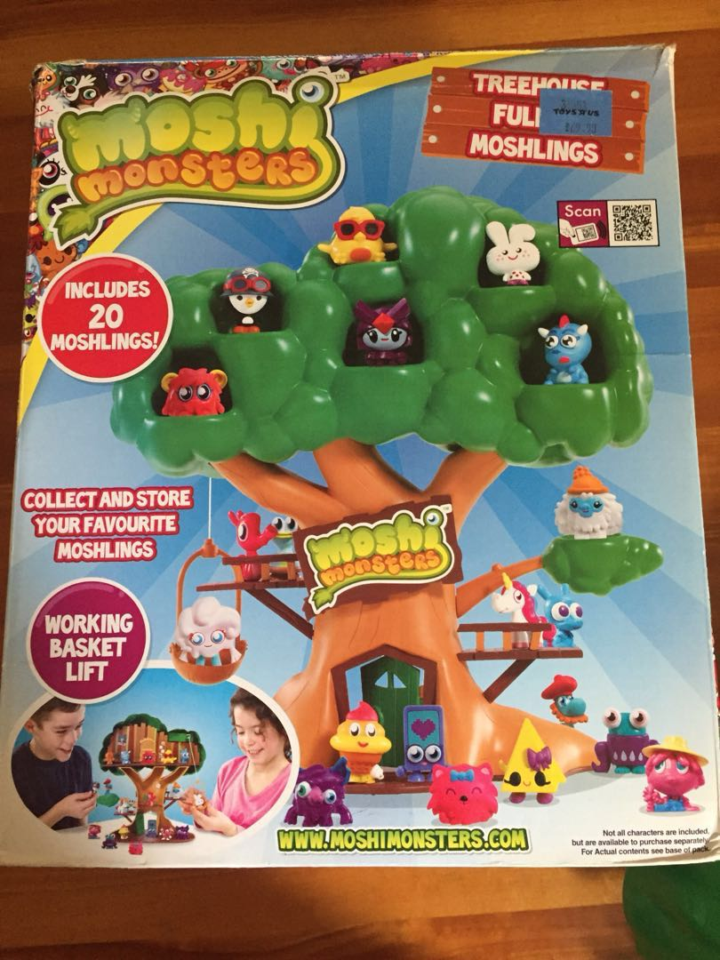 Moshi Monsters Tree House With Moshlings Toys Games Bricks Figurines On Carousell