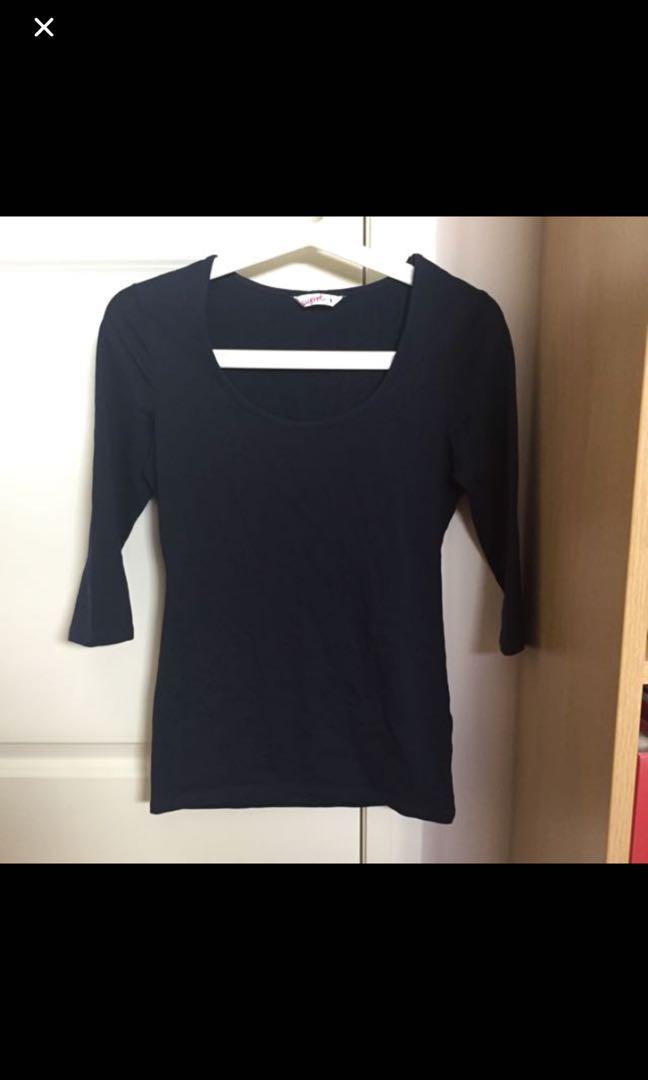 Navy blue 3/4 sleeve