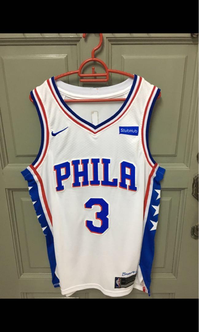 8078e660a Nba Nike sixers 76ers Allen Iverson basketball jersey