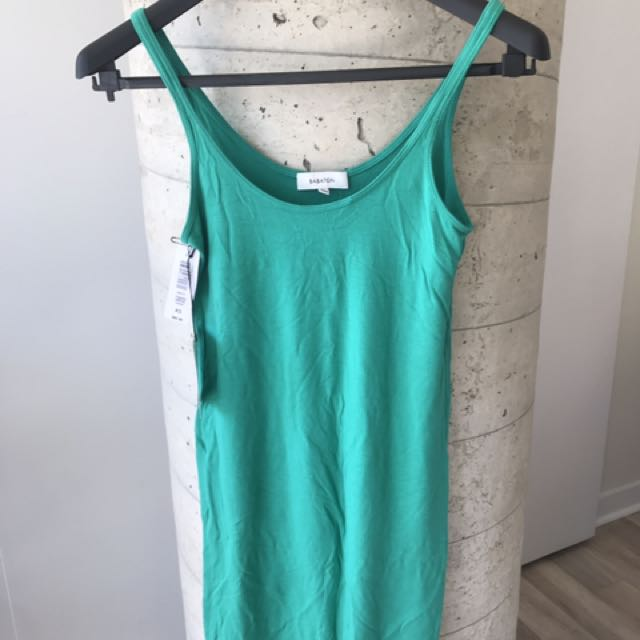 NWT Aritzia Talula Babaton Emerald Tank Dress Size Small