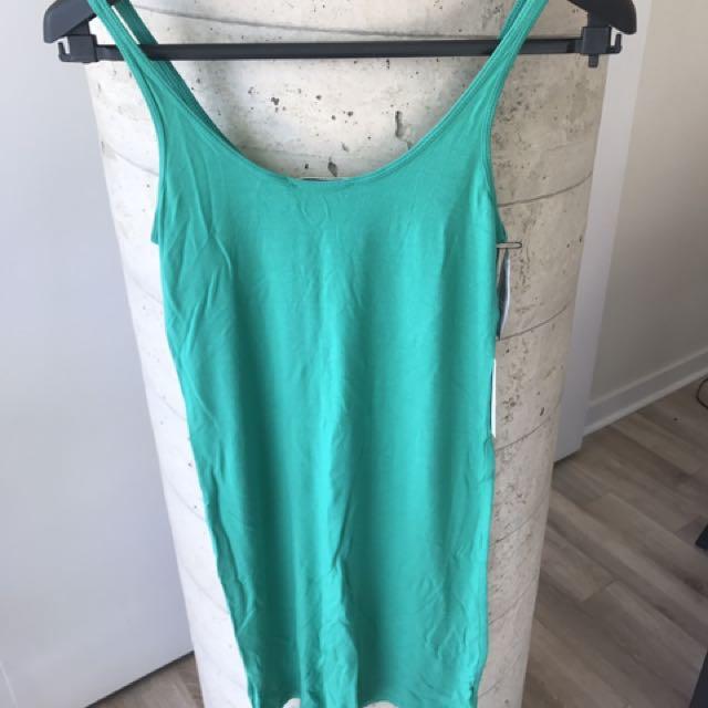 NWT Aritzia Talula Babaton Emerald Tank Dress Size Small