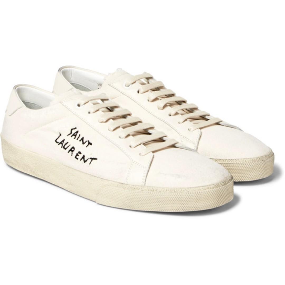 658deb8d12 PO] Yves Saint Laurent YSL Distressed Sneaker, Men's Fashion ...