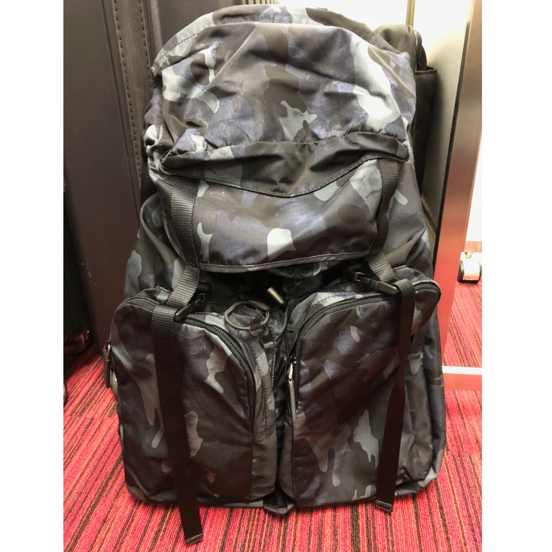 a25188e2b67d Prada Backback Tessuto Camouflage Bordeaux, Men's Fashion, Bags ...