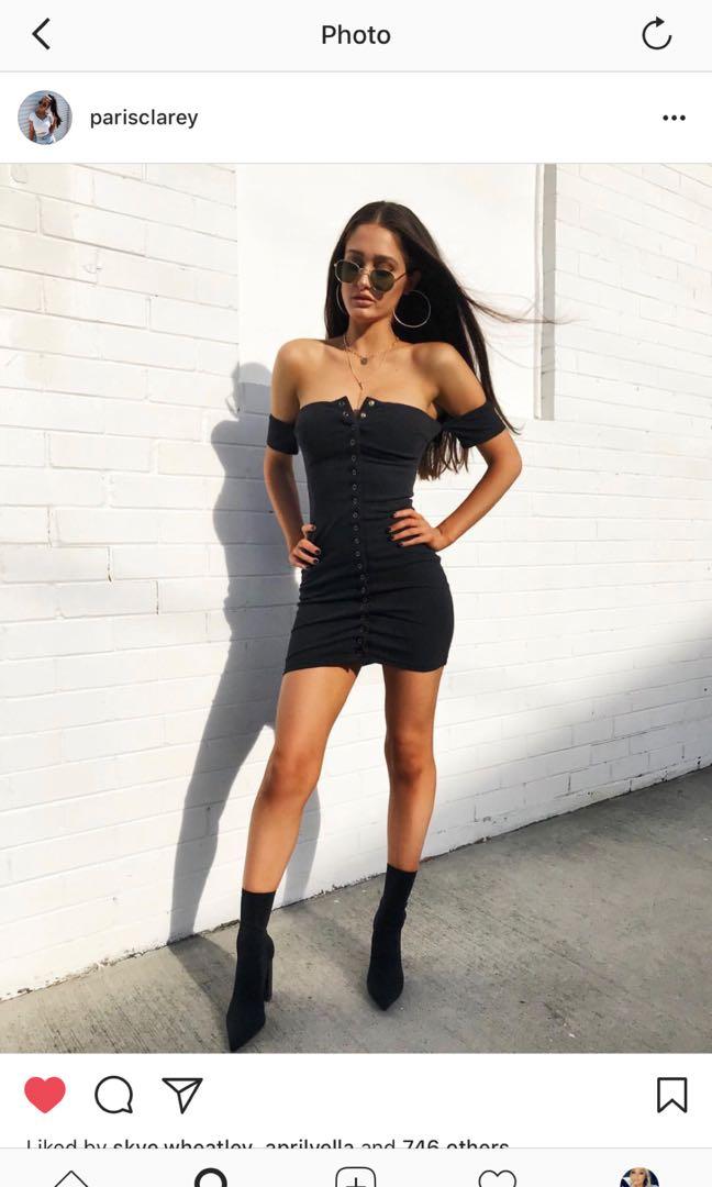 Sabo skirt black dress
