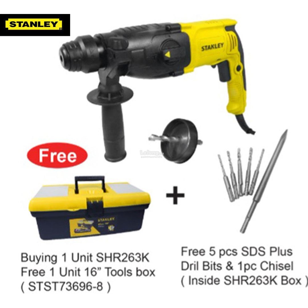 Stanley Shr263ka 800w 26mm Rotary Hammer Electronics Others On 18v Brushless Drill Carousell