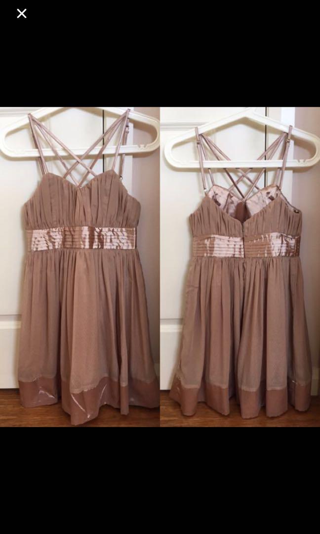 Tan strap dress
