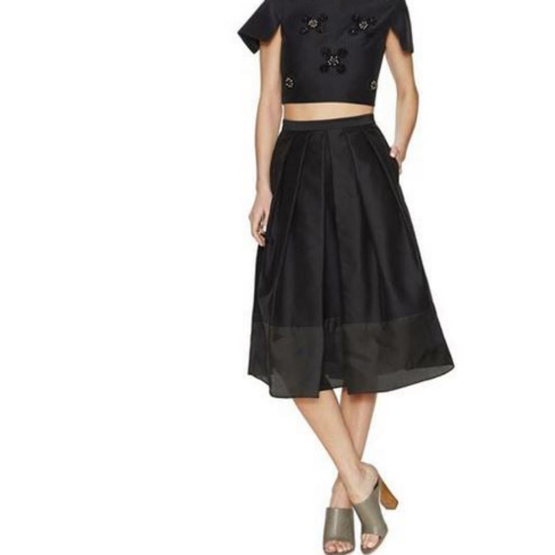TIBI New York Techno Pleated Full Skirt / Size 6