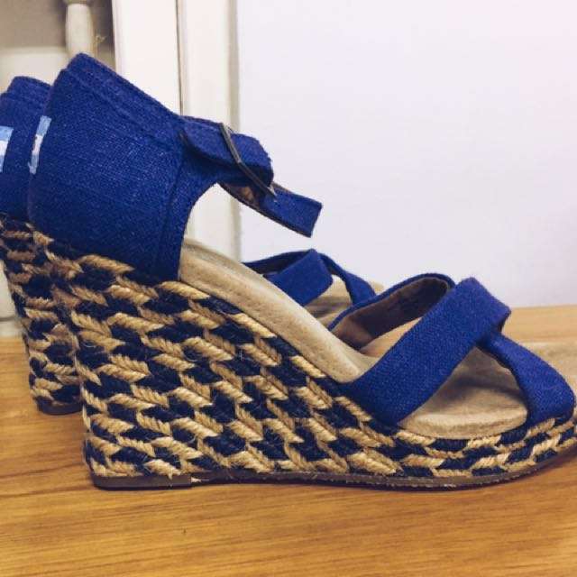 3a8579aac65 Toms - Women's Wedge In Blue Mixed Rope