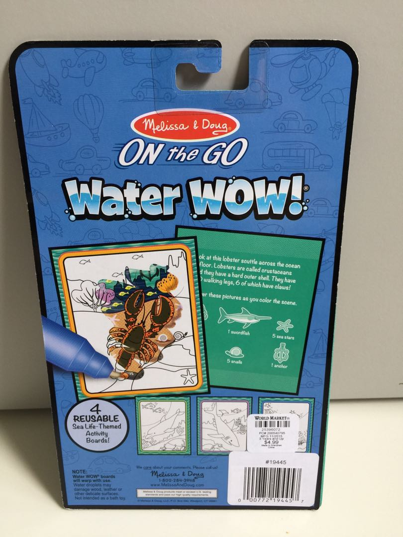 Under The Sea Water Reveal Pad Water Wow Toys Games