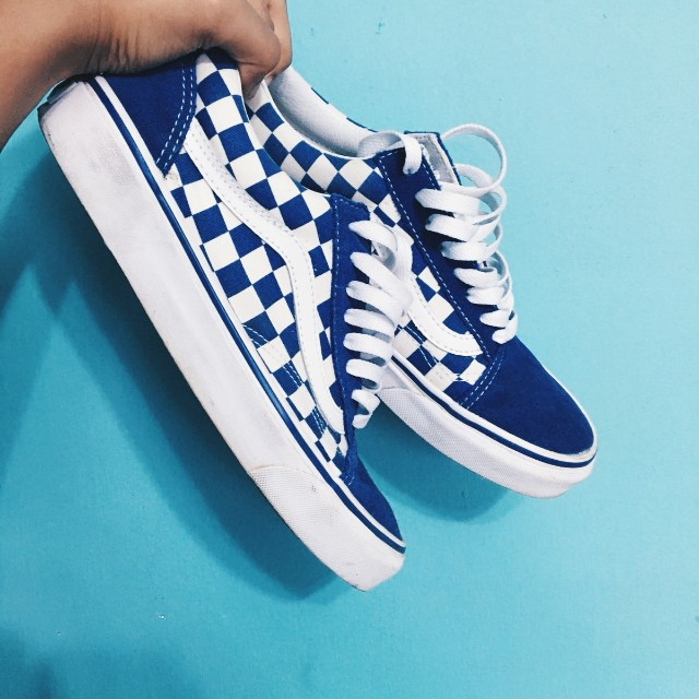 9361bbac220bdb Vans old skool blue checkered