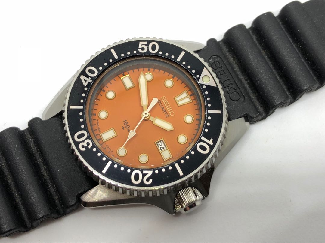 Vintage SEIKO Orange Mini Diver