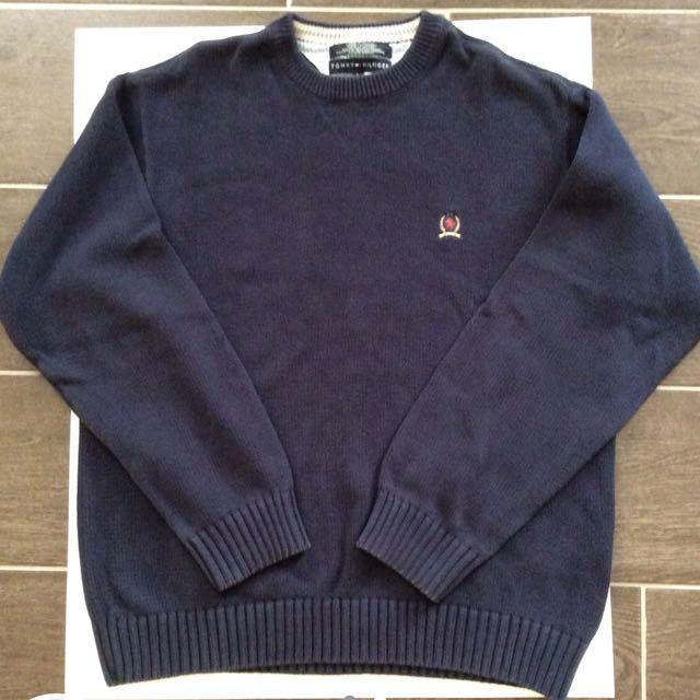 12396ac9 Vintage Tommy Hilfiger crewneck sweater, Men's Fashion, Clothes on ...