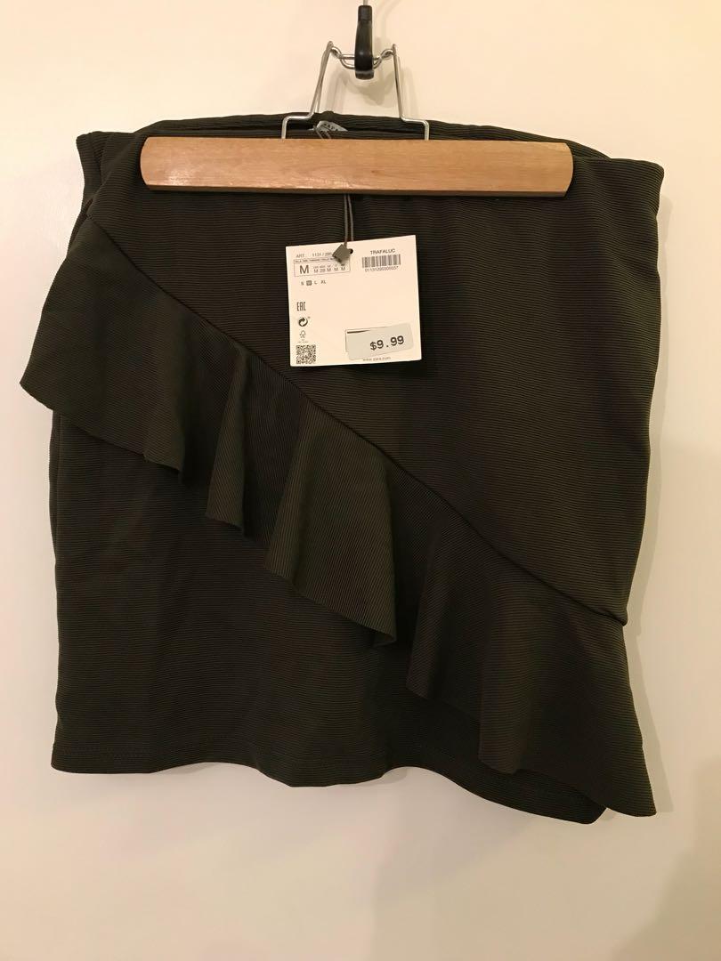 Zara Dark Olive Skirt - Size Medium