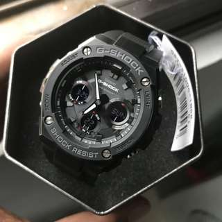 Brand New Gsteel Gshock Casio Black GSTS100G Stealth Black FREE DELIVERY Unisex G-Shock 100% Authentic