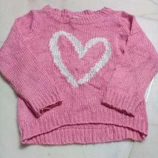 2 years Pink Knitted Sweater