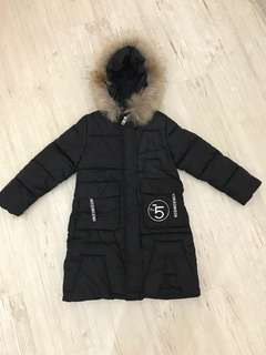 Girl long winter coat