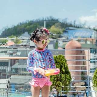 🇰🇷 韓版夏日女童防曬泳衣 兩件套👙