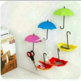 創意雨傘掛鉤6個裝