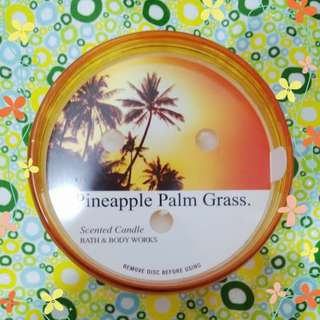 BBw Pineapple Palm Grass 3 Wick Scented Candle