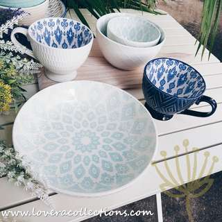 Repeat Assorted Patterns Bohemian Prints Rice Bowl Cereal / Soup Bowl Soup / Pasta Dish Plate Mug Drinkware Dinnerware Diningware Tableware (PLS READ INFO)