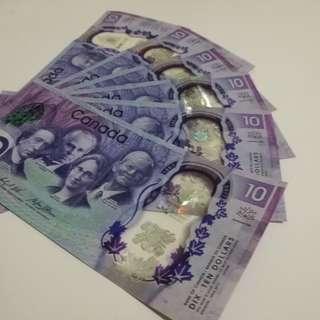 加拿大建國150週 年紀念鈔
