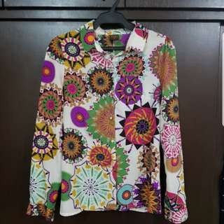 Printed Button Down Long Sleeve