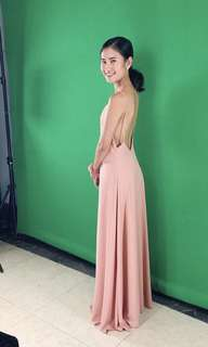 Style Staple Nude Backless Long Gown