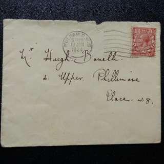 [lapyip1230] 大英帝國 1924年 喬治五世 實寄封