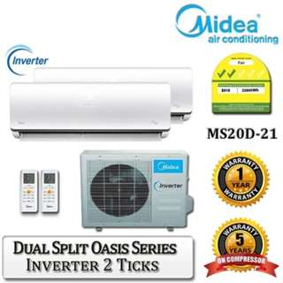 Free Installation! System 2 Midea Air Conditioner!
