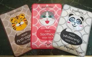 Puorella Aqua Mask Pack (Animal Design)