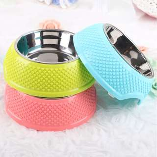 💙 PO 💙 New Collection high quality Stainless Steel PP Material Pet Food Dog 🐶 & Cat 🐱 Bowl