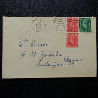 [lapyip1230] 大英帝國 1950年 喬治六世 實寄封