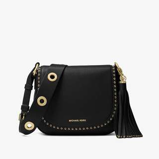 Michael Kors - Brooklyn Medium Saddle Bag in Black