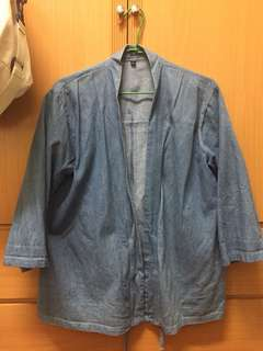 🚚 牛仔開襟和服外套