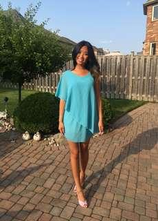 Sky blue spring dress small