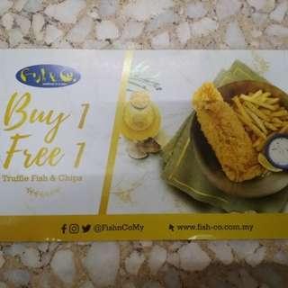 Fish & Co. Buy 1 Free 1 Voucher