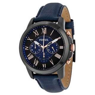 Jam tangan pria fossil tali kulit super premium