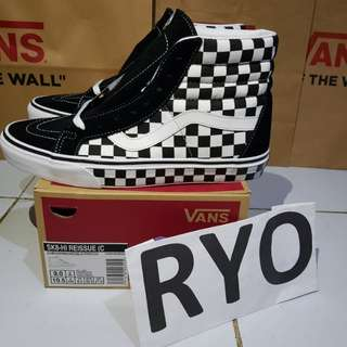 Vans SK8-Hi Reissue Checkerboard not slip on old skool era authentic anaheim
