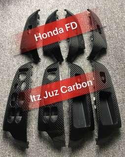 Honda FD Carbon window oanel
