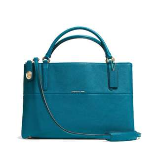 COACH TURNLOCK BOROUGH BAG 33546 TEAL