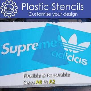 Custom Plastic Stencils.  Any designs for scrapbooking , spray painting or wall decor