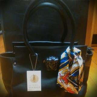 Reduced Versace Black Ladies Bag