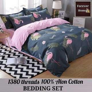 Forever Home床上用品直銷, $120起購買全新升級蘆薈棉1380針床單寢具套裝, 一套包括(床笠, 被套, 枕套) - 款式N4