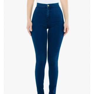 American Apparel the easy jean high waisted blue jeans